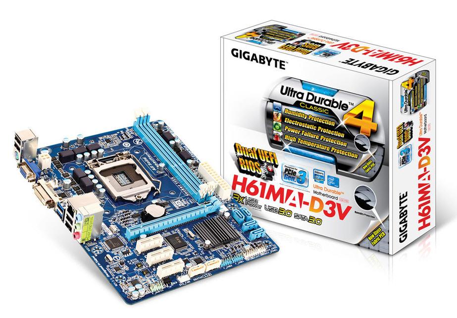 Bo mạch chủ Gigabyte GA-H61MA-D3V (rev. 2.0)