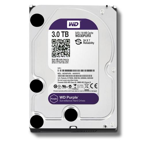 Ổ cứng HDD 3TB Western Digital Purple 3.5