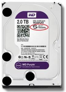 Ổ cứng WD Purple 2TB Ổ cứng WD20PURX chuyên dụng cho camera (Tím)